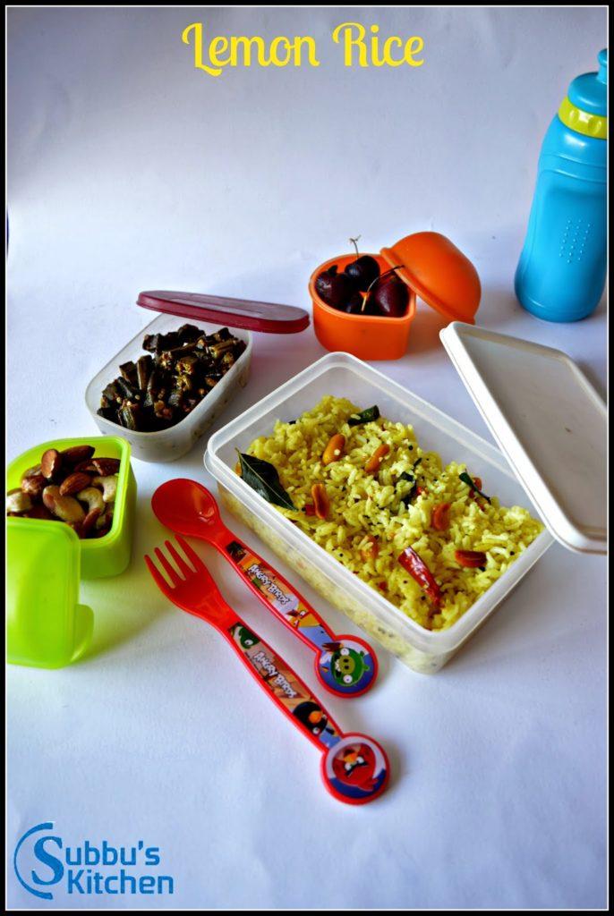 Lemon Rice | Kids Lunchbox Recipes