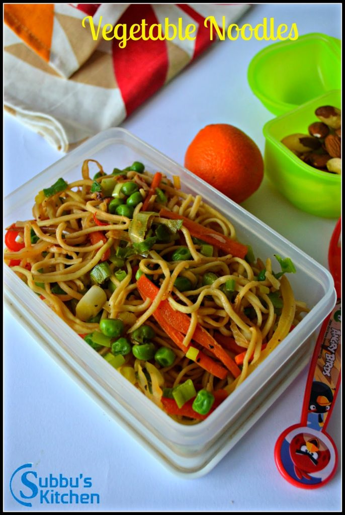 Vegetable Noodles | Kids Lunchbox Recipes