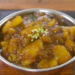 Raw Mango Pachadi Recipe | Mangai Pachadi Recipe