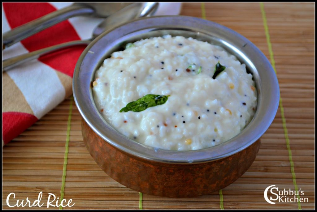 Curd Rice Recipe | Thayir Sadam Recipe