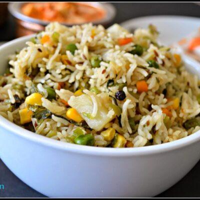 Vegetable Pulao - Subbus Kitchen