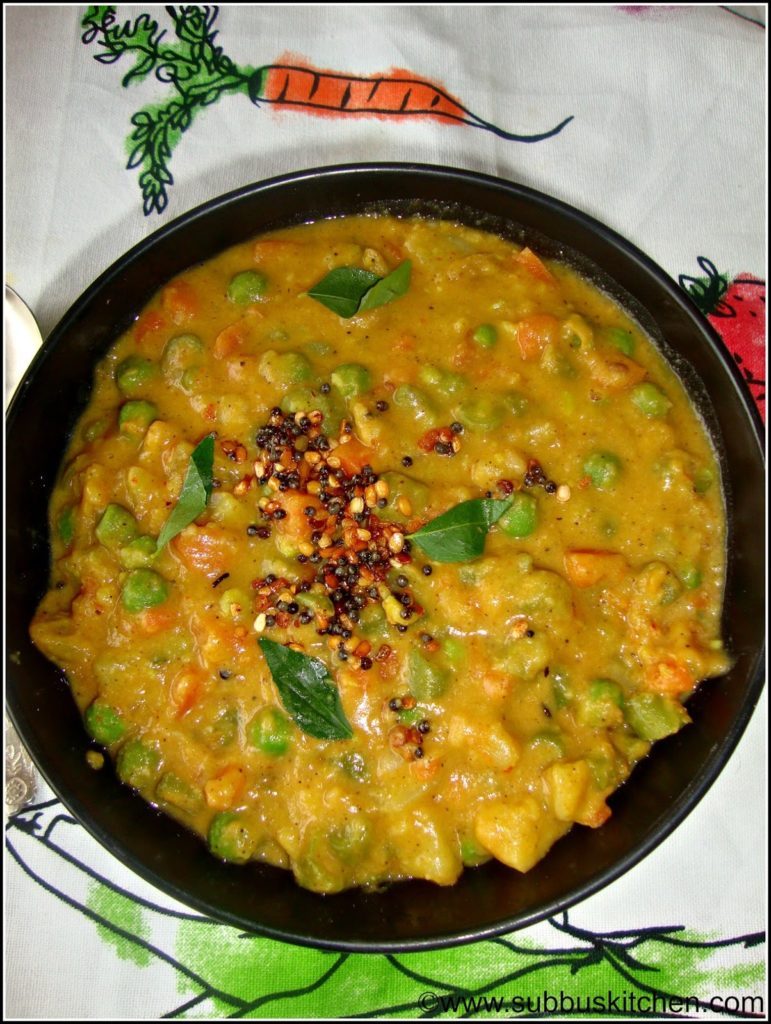 Mixed Vegetable Poricha Kootu