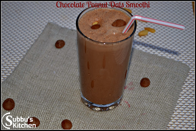 Chocolate Peanut butter Oats Smoothie