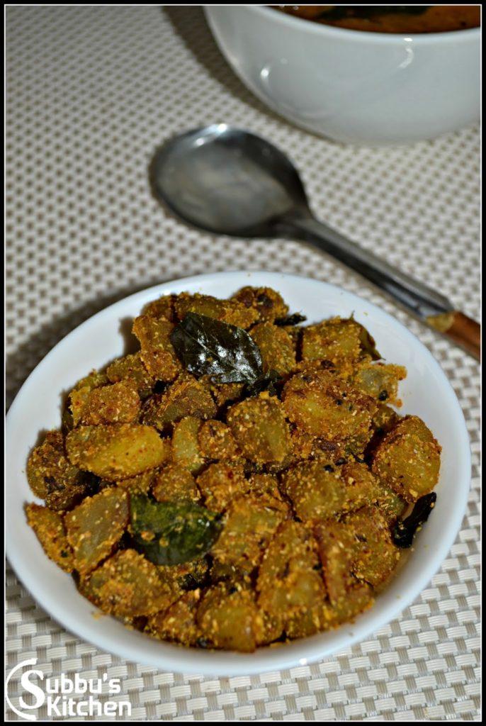 Sweet Potato Stir Fry (SakkaraVelli Kizhangu Poriyal)