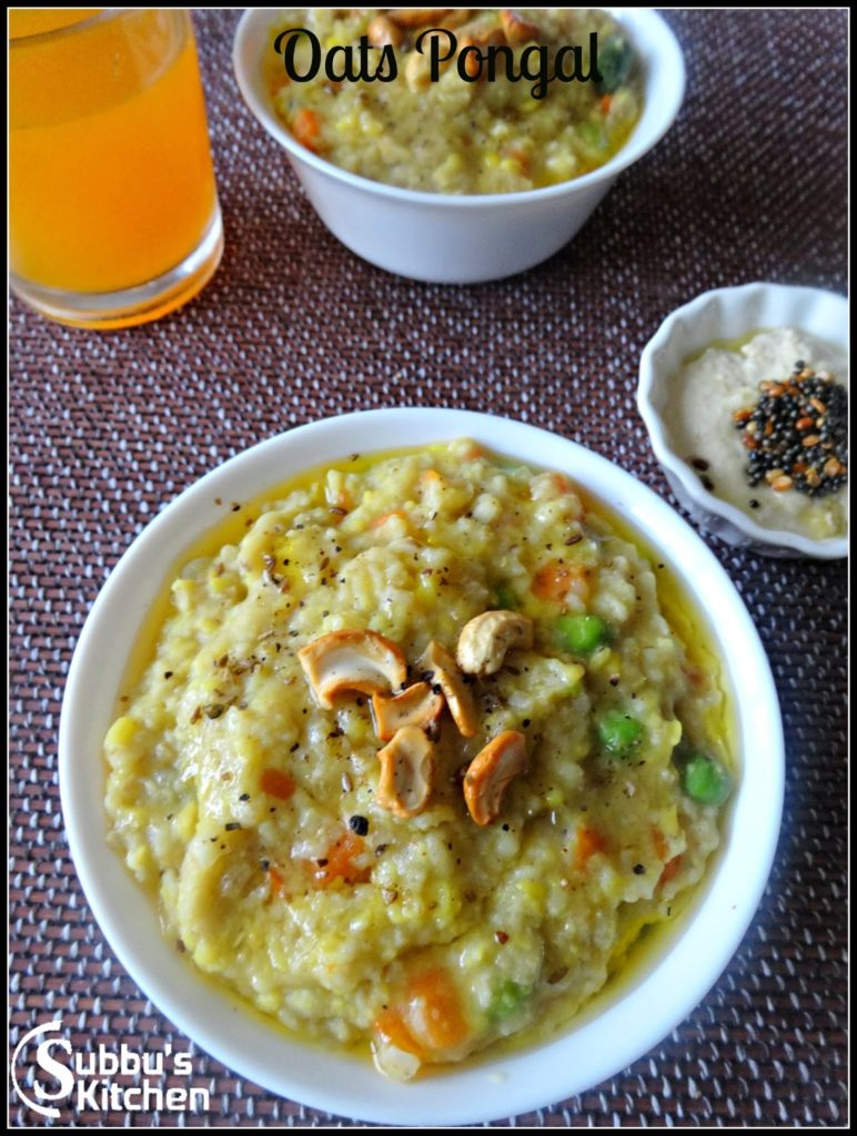 Vegetable Oats Pongal