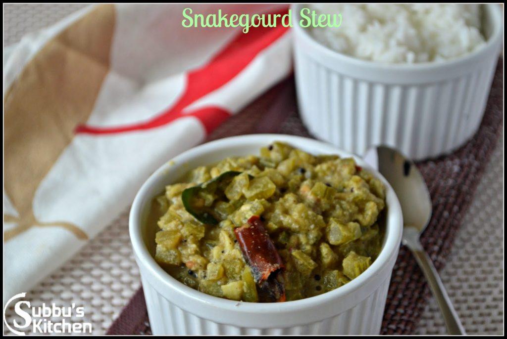 Pudalangai Kootu (Snakegourd Stew)