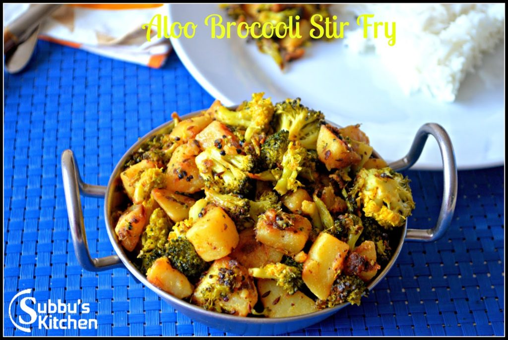 Aloo Broccoli Stir Fry | Aloo Broccoli Curry