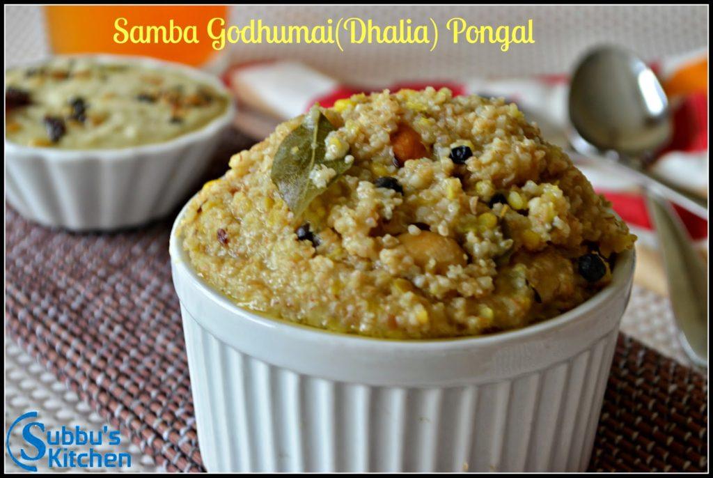 Samba Godhumai(Dhalia) Pongal