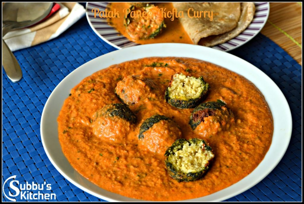 Palak Paneer Kofta Curry