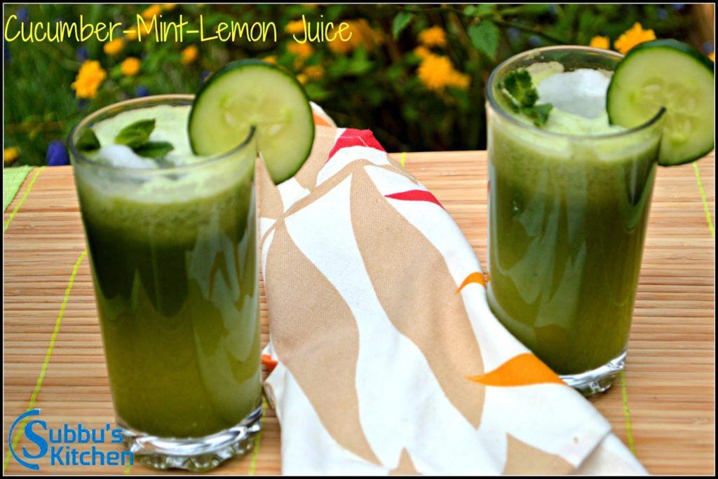Cucumber-Mint-Lemon Juice