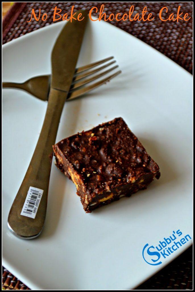 No Bake Chocolate Cake | Chocolate Fridge Cake