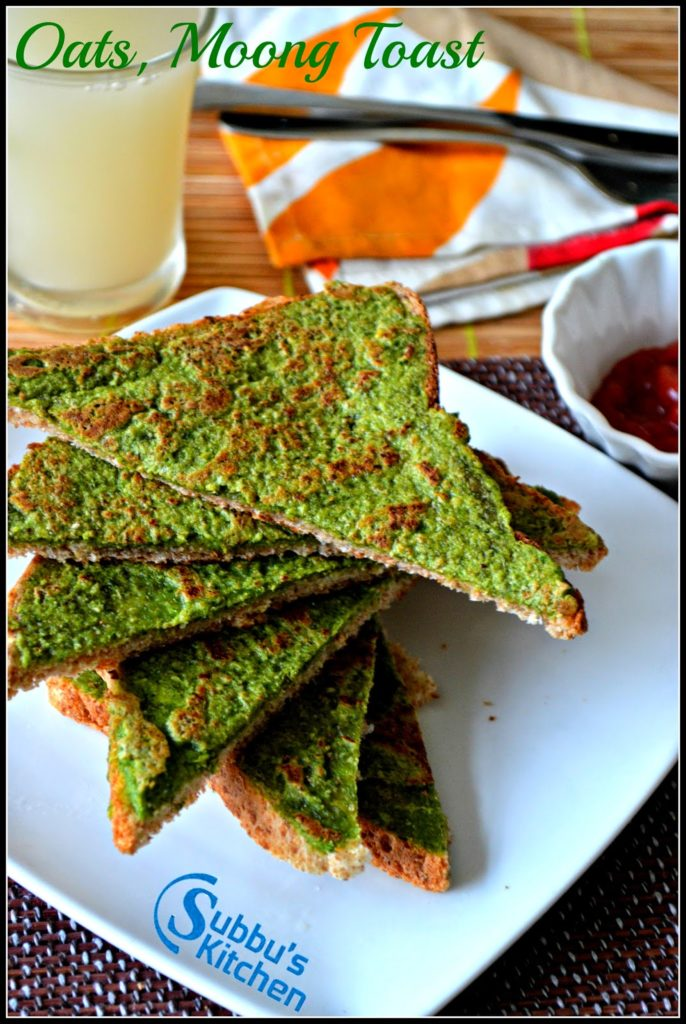 Oats Moong Toast