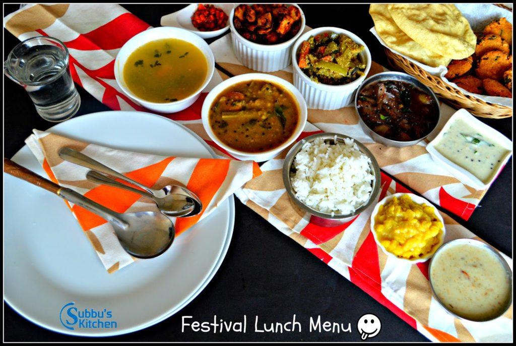 Festival Lunch Menu