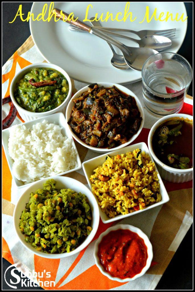 Andhra Lunch Menu