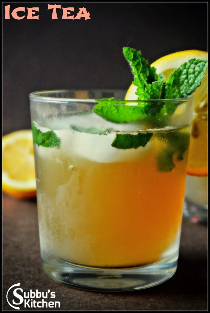 Ginger-Mint-Green Iced Tea