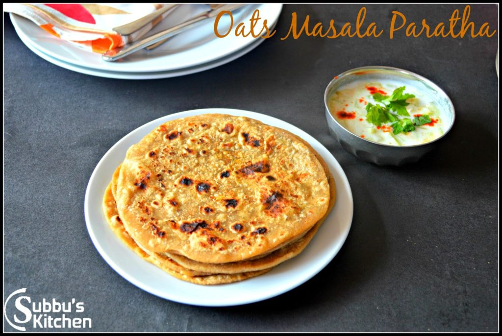 Oats Masala Paratha