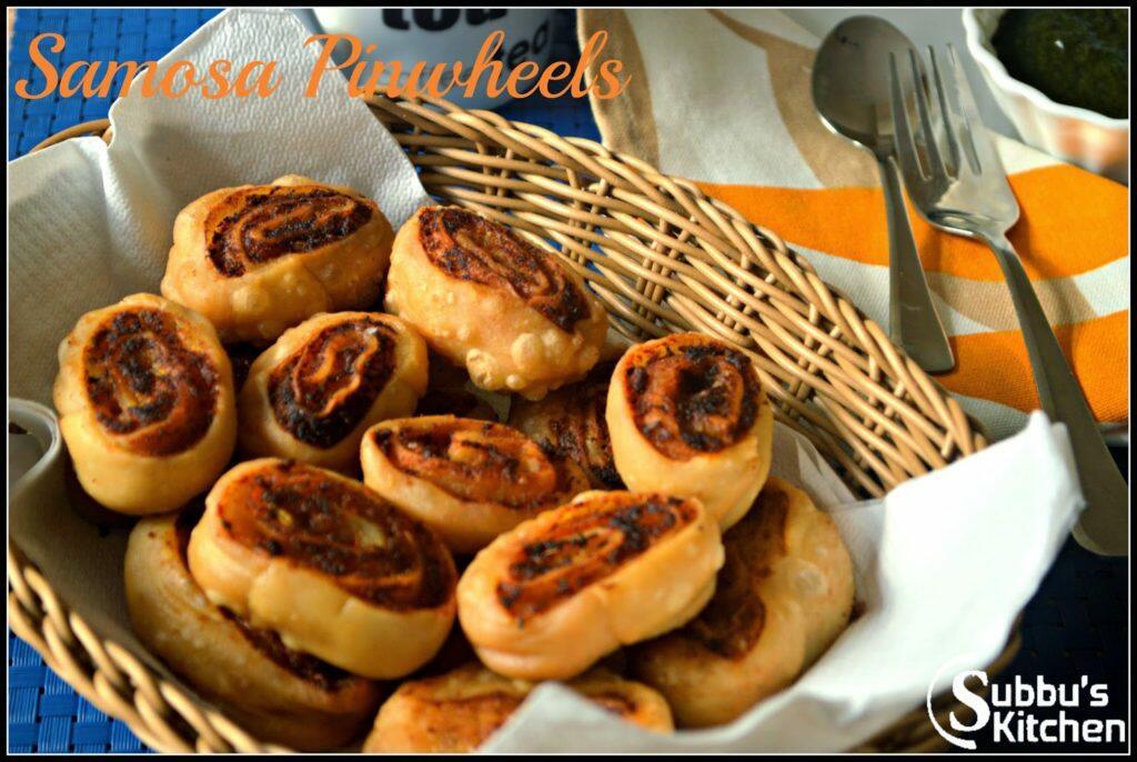 Samosa Pinwheels Recipe, Samosa Bites Recipe, How to make Samosa Pinwheels, Easy Samosa Recipes