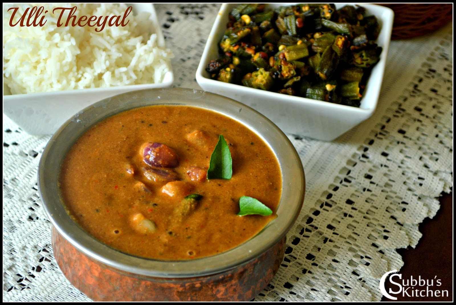 Ulli Theeyal Recipe | Baby Onion in Roasted Coconut spiced gravy