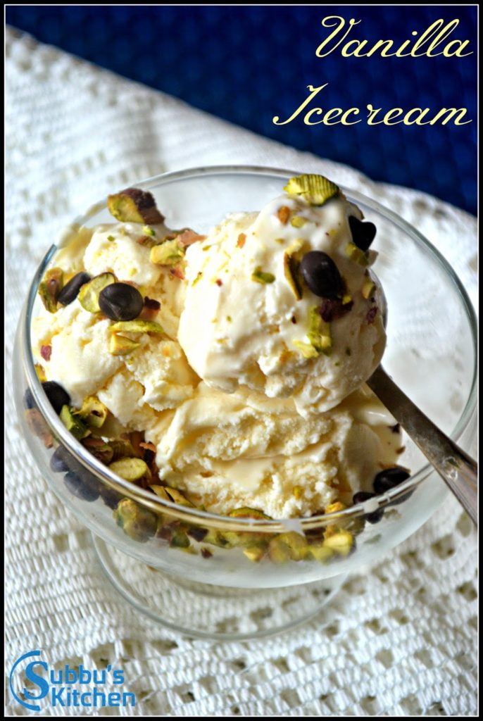 Homemade Vanilla Icecream