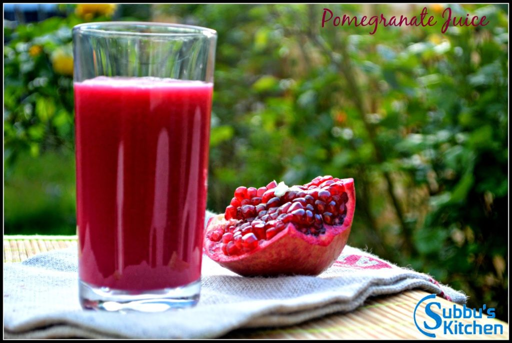 How to Prepare Pomegranate Juice, Seeding Pomegranate, Pomegranate Juice
