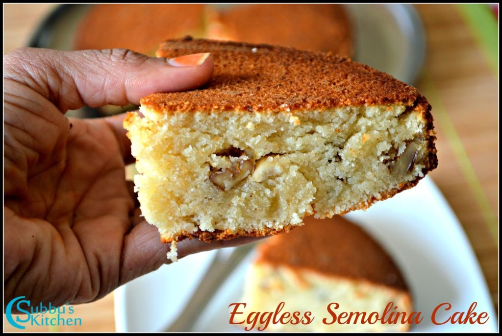 Rava Cake Recipe In Marathi Oven: Eggless Semolina Cake Recipe