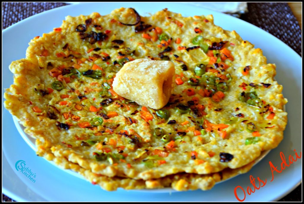 Vegetable Oats Adai Recipe