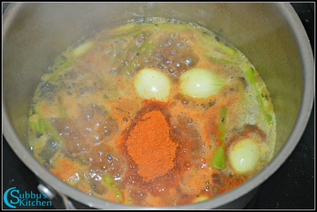 how to prepare spring onion sambar