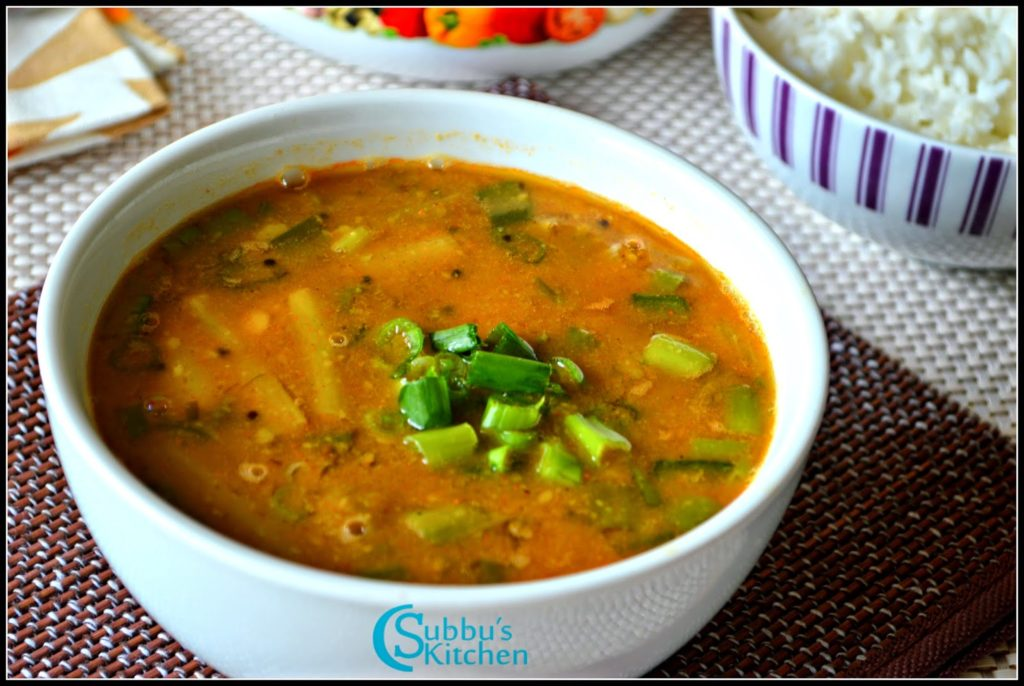 Spring Onion Sambar Recipe