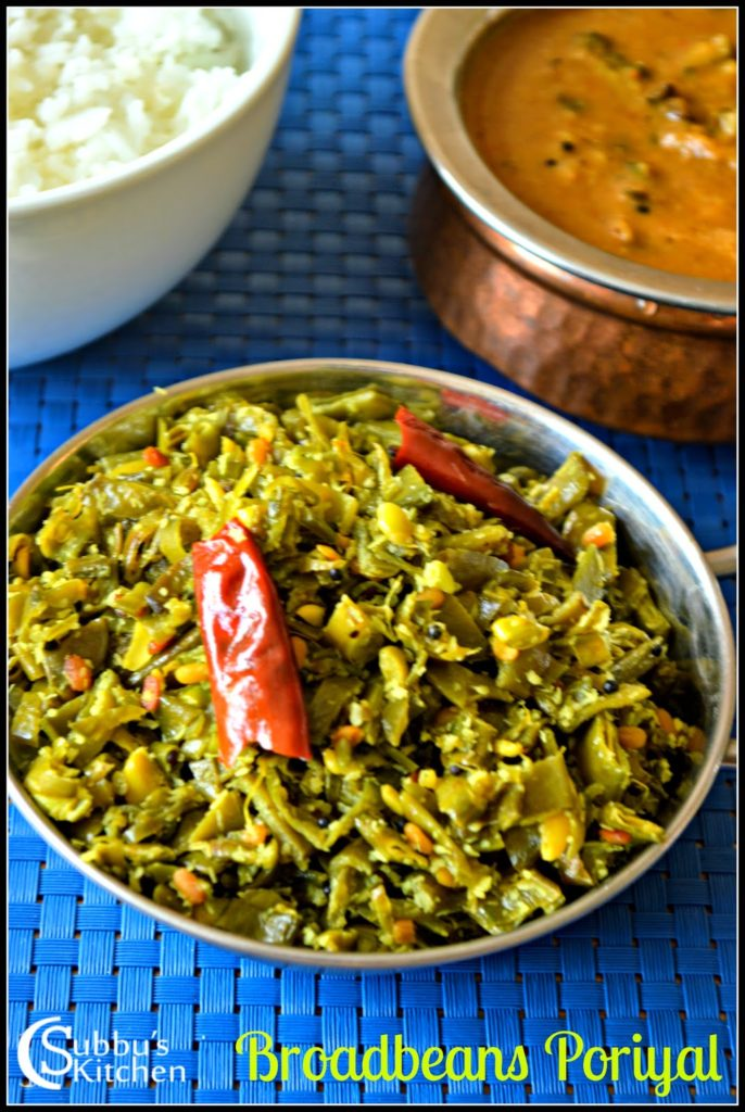 Avarakkai Poriyal Recipe | BroadBeans Poriyal Recipe