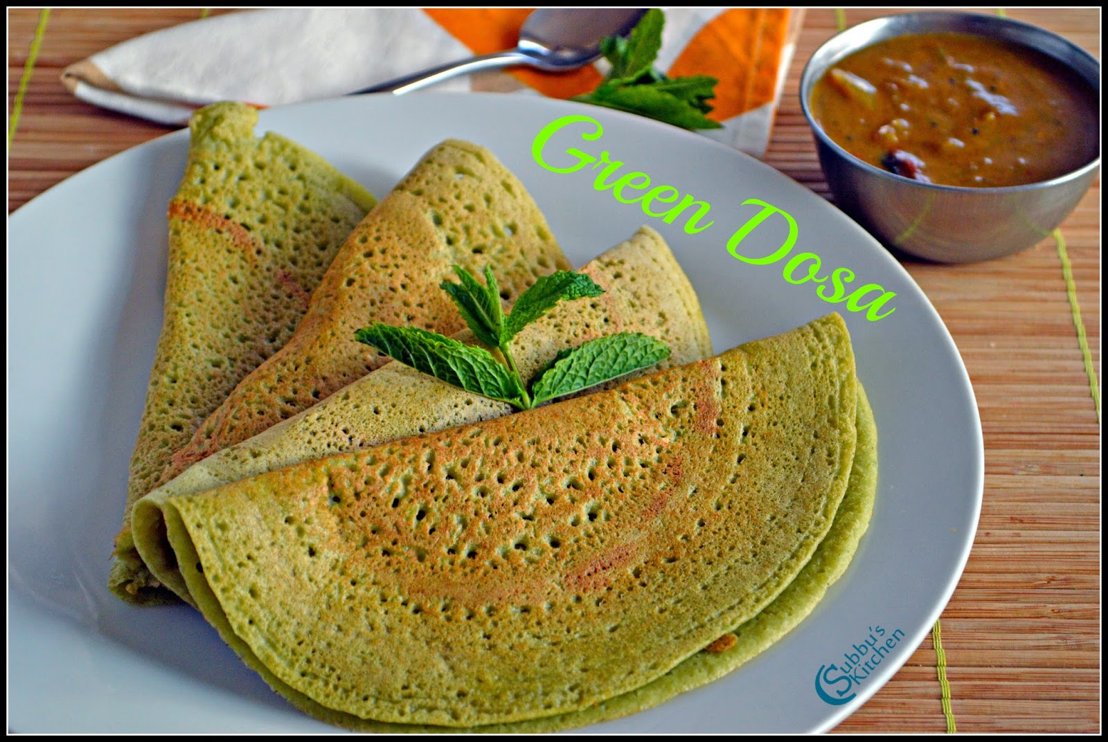 Mint coriander and curry leaves dosa recipe green dosa recipe mint coriander and curry leaves dosa recipe green dosa recipe forumfinder Image collections