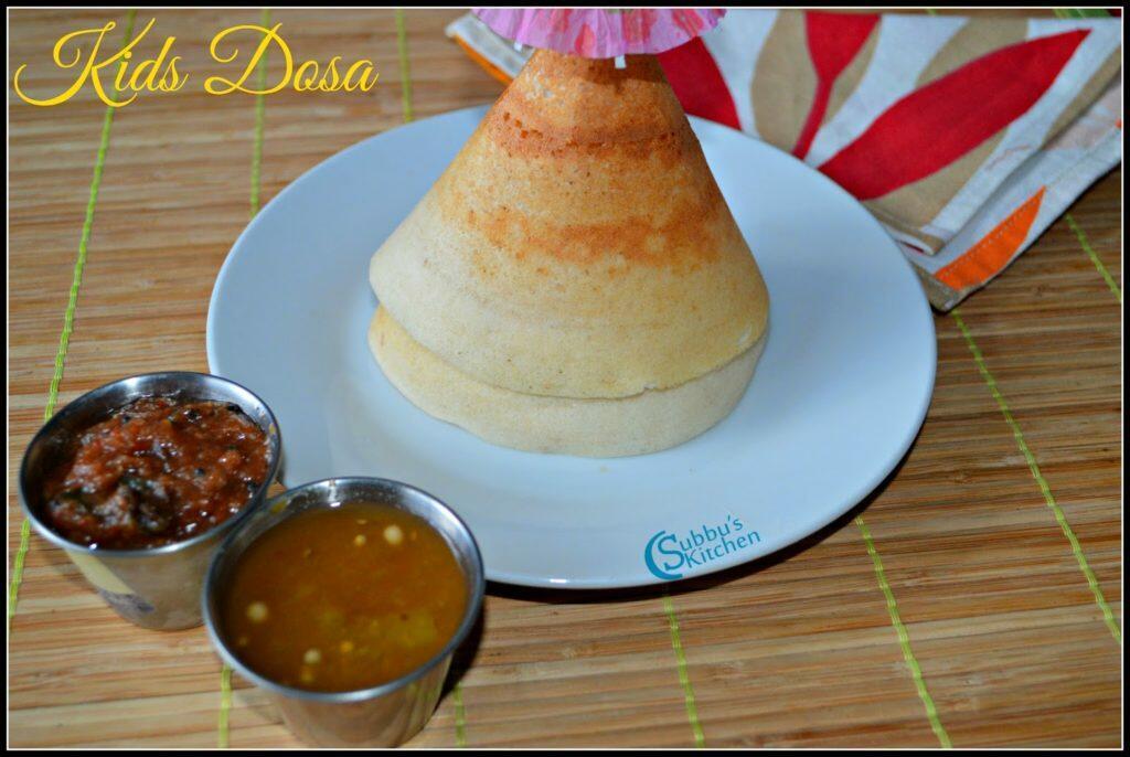 Homemade Ghee Roast Dosa Recipe | Kids Dosa Recipe