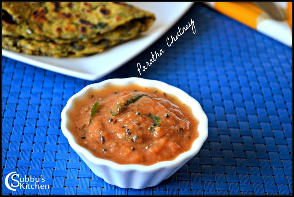 Paratha Chutney Recipe