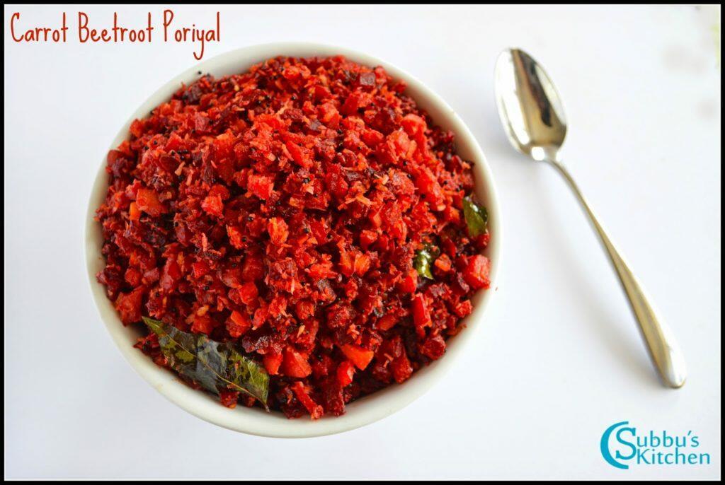 Carrot Beetroot Poriyal