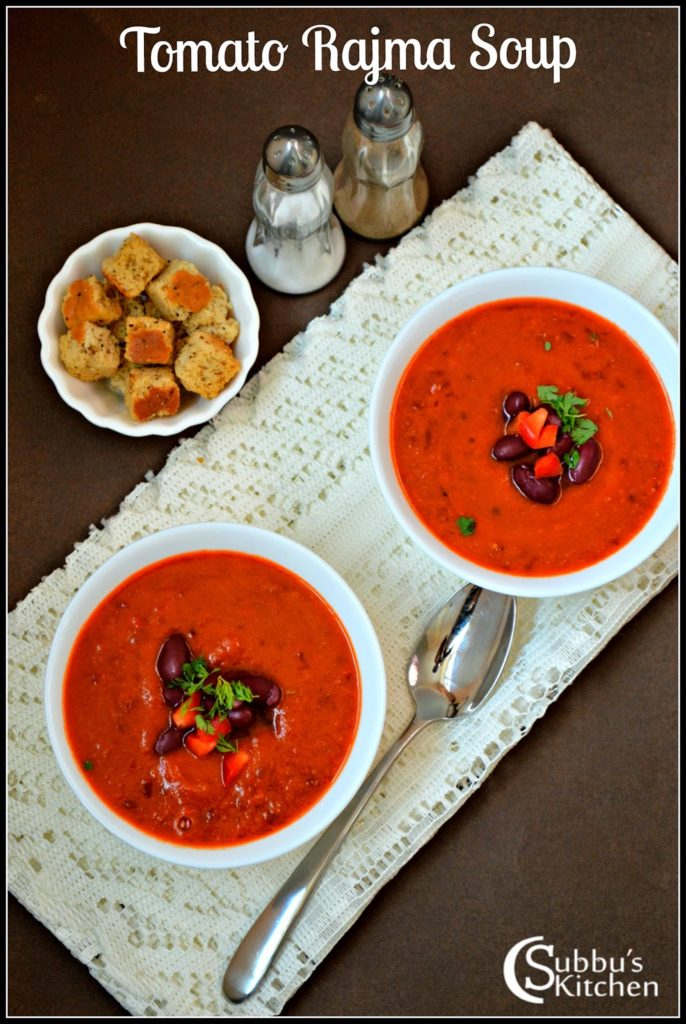 Tomato, Red Kidney Beans, Red Bell Pepper Soup Recipe