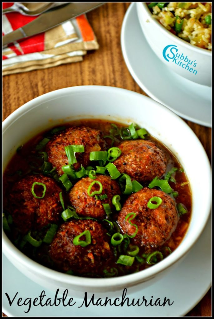Vegetable Manchurian Gravy Recipe