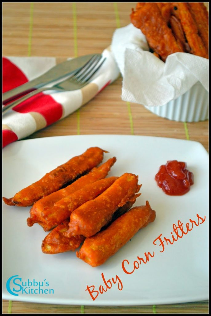 Baby Corn Fritters Recipe | Baby Corn Fingers Recipe