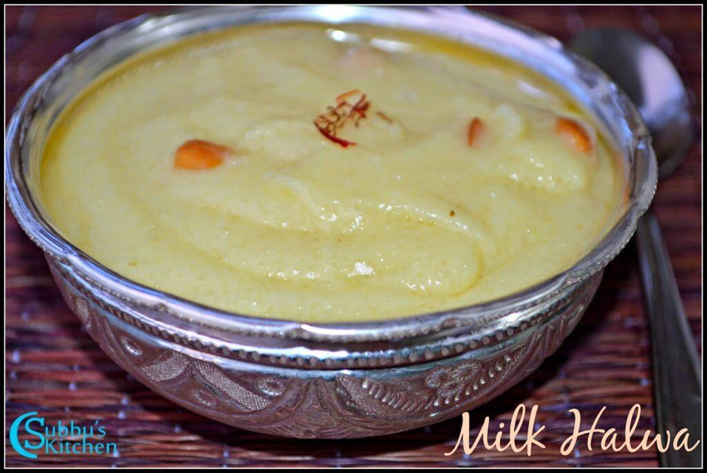 Milk Halwa Recipe (Paal Halwa)