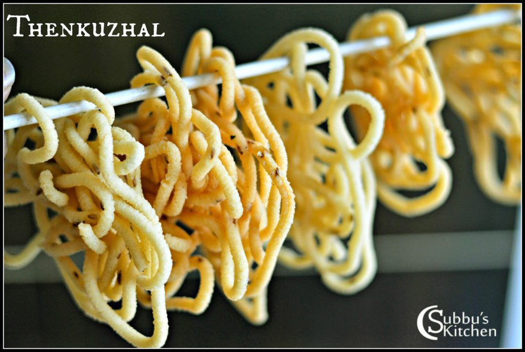 Thenkuzhal Recipe Subbus Kitchen