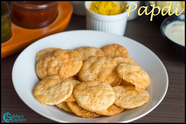 Homemade Papdi Recipe | How to make Papdi for Chaats | Papri Recipe | Indian Cracker Recipe