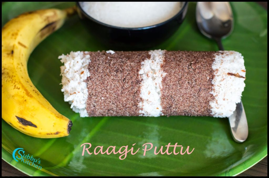 Raagi Puttu Recipe | Finger Millet (Kezhvaragu) Puttu Recipe