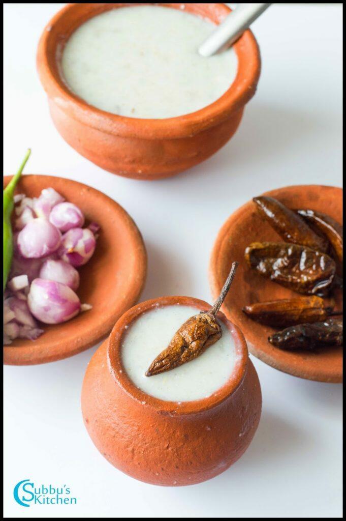 Kambu Koozh Recipe / Pearl Millet Porridge Recipe / Kambang Koozh Recipe