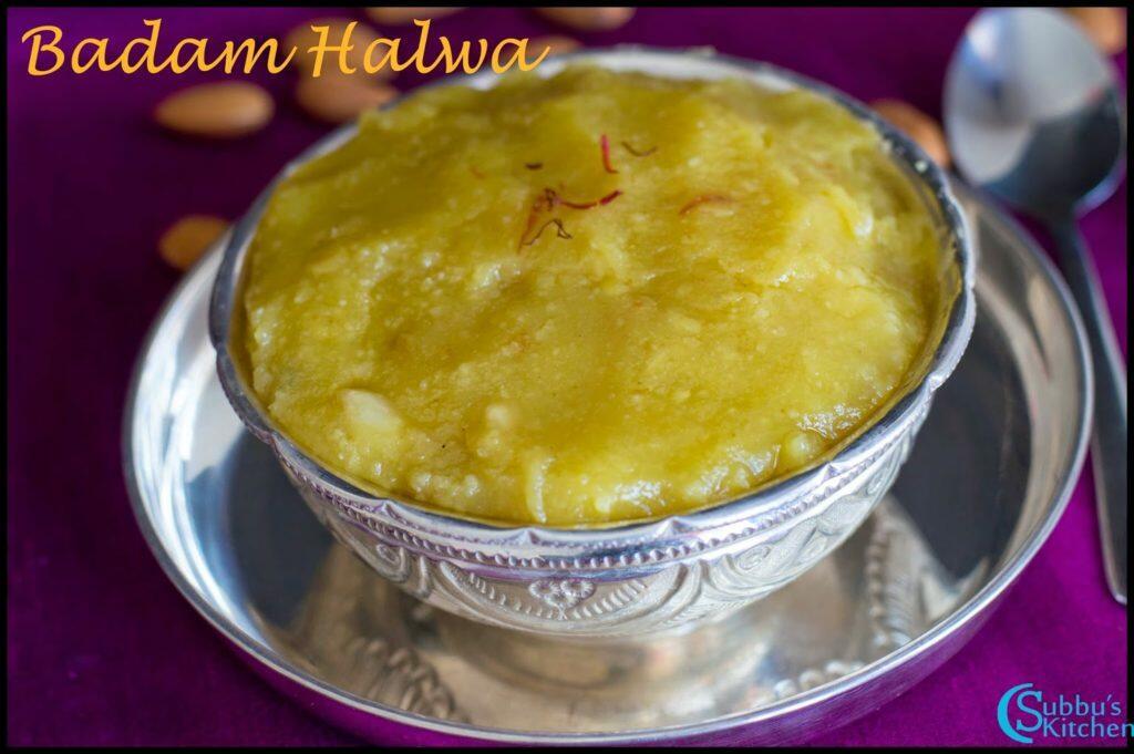 Badam Halwa Recipe | Almond Halwa Recipe