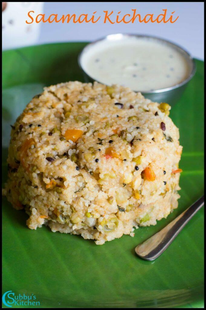 Little Millet Kichadi Recipe | Saamai Kichadi Recipe | Kutki Kichadi Recipe