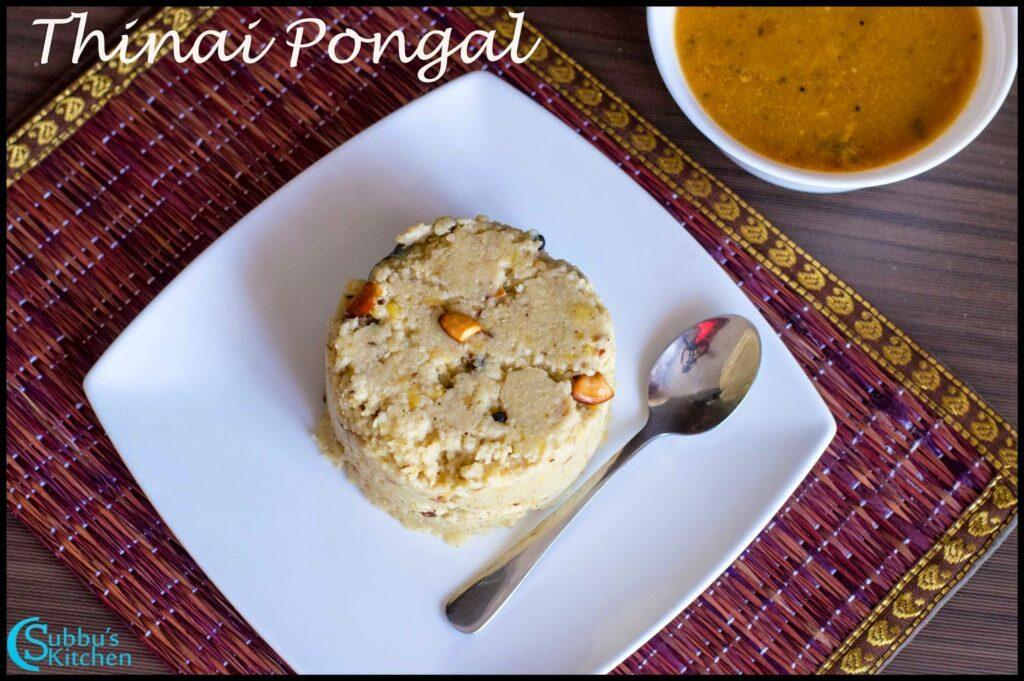 Thinai Pongal Recipe   Finger Millet Pongal Recipe  ,Kangni Pongal Recipe