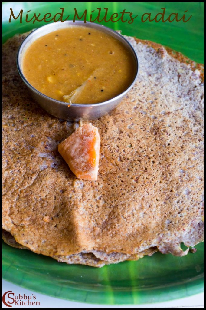 Adai Dosa Recipe Subbus Kitchen