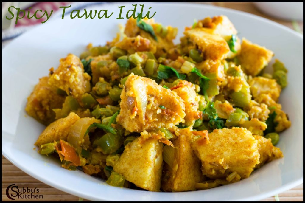Spicy Tawa Idli Recipe