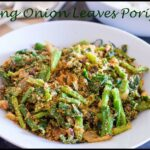 Spring Onion Leaves Poriyal Recipe | Vengaya Thazhai Poriyal Recipe