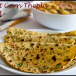 Sweet Corn Coriander Thepla Recipe
