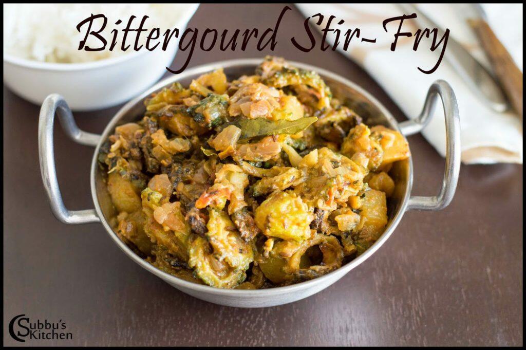 Bitter Gourd Masala Stir-Fry Recipe | Pavakkai Masala Curry Recipe