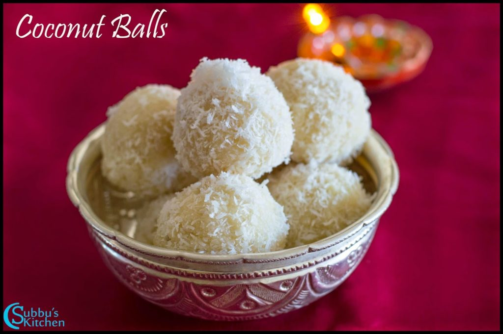 Coconut Balls Recipe | Bengali Coconut Ladoo Recipe | Narkel Naru Recipe